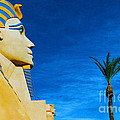 Sphinx And Palm Trees Las Vegas by Mike Nellums