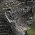 Sphinx Statue Head Grey Usa by Sally Rockefeller