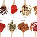Spices Collection On Spoons by Luis Alvarenga