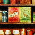 Spices On Shelf by Susan Savad