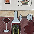 Essence Of Home - Spilt Glass Of Wine by Sheryl Young