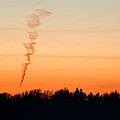 Spiral Cloud At Sunset by Ian Middleton
