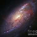 Spiral Galaxy M106, Hubble Image by Robert Gendler