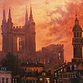 Spires In Silhouette by Tom Shropshire