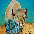 Spirit White Buffalo by Mike Holder