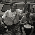 Charlottesville Bongo Player by Gary Rieks