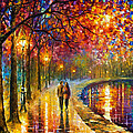 Spirits By The Lake - Palette Knife Oil Painting On Canvas By Leonid Afremov by Leonid Afremov