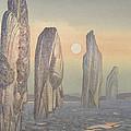 Spirits Of Callanish Isle Of Lewis by Evangeline Dickson