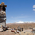 Spiritual Cairn In The Peruvian Altiplano by Ralf Broskvar
