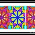 Spirituality - Life Lights - Kaleidoscope - Triptych by Barbara Griffin
