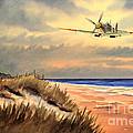 Spitfire Mk9 - Over South Coast England by Bill Holkham