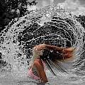 Hair Flip Splash by Brian Caldwell