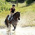 Splashing Thru Water Jump by Janice Byer