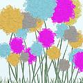 Splat Painted Flowers by Michelle Brenmark