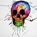 Splatter Skull by Christy Bruna