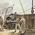 Splicing The Trans-atlantic Telegraph Cable After The First Accident On Board The Great Eastern by Robert Dudley