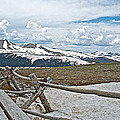 Split Rail Fence Near Alpine Visitor's Center In Rocky Mountain Np-co by Ruth Hager