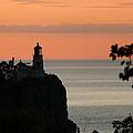 Split Rock Lighthouse At Sunrise by George Jones