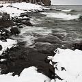 Split Rock Lighthouse Winter 17 by John Brueske