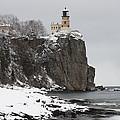 Split Rock Lighthouse Winter 19 by John Brueske