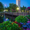 Spokane Clocktower By Night by Inge Johnsson