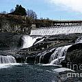 Spokane Falls At Low Tide by Sharon Elliott