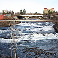 Spokane Falls In Winter by Carol Groenen