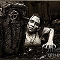 Zombie Lady Sepia by Iris Richardson