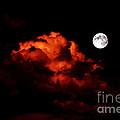 Spooky Clouds With Glowing Moon by Barbara Griffin