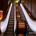 Spooky Escalator At The Brown Palace In Denver by John Malone