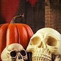 Spooky Halloween Skulls by Edward Fielding