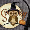 Spooky Owl by Valerie Drake Lesiak