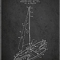 Sport Sailboat Patent From 1977 - Dark by Aged Pixel