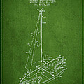 Sport Sailboat Patent From 1977 - Green by Aged Pixel