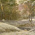 Sportsmen In A Winter Forest by Pieter Gerardus van