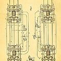 Sprague Electric Railway Patent Art 1885 by Ian Monk