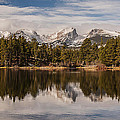 Sprague Lake Reflection In The Morning by Lee Kirchhevel