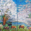 Spring And Horses by Vicky Tarcau