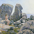 Spring At The Rock Shore  by Denis Chernov