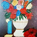 Spring Bouquet In A Vase by Maria Dunai-Kovacs
