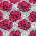 Spring Bright Seamless Floral Pattern by Ekaterina Bedoeva