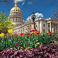Spring Comes To Wv Capitol by Mary Almond