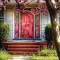 Spring - Door - Westfield Nj - Pink by Mike Savad