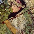 Spring by Edouard Manet