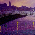 Spring Evening Ha Penny Bridge Dublin by John  Nolan