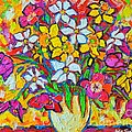 Spring Flowers Bouquet Colorful Tulips And Daffodils