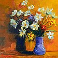 Spring Flowers In A Vase by Patricia Awapara