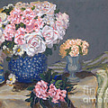 Spring In A Blue Vase by Monica Caballero