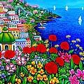Spring In Positano by Giovanni Daurea