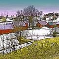 Spring Melt At Jenne Farm by Nancy Griswold